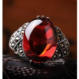 High-level titanium silver natural agate women's rings