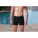 High elastic black swimming trunks
