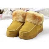 hight cut plush slippers