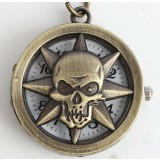Hollow skull series necklace watch