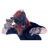 Horror wolf head mask for costume party