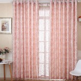 Korean style pink curtains
