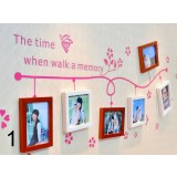 Korean style wood photo frame combination