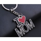 l love mom zinc alloy keychain