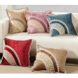 Lace flannel pillow cover
