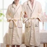 Lacing type package edge cotton bathrobes