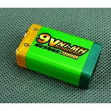 Large-capacity 6F22 9V NiMH rechargeable batteries