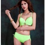 Large size 2pcs bikini swimsuit