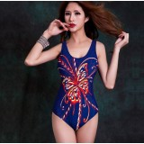 Large size sexy butterfly one-piece swimsuit