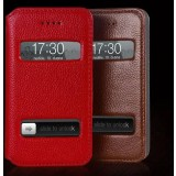 Leather Case with window for iPhone 4 / 4s