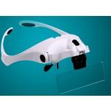 LED 5 lens adjustable head mounted magnifier