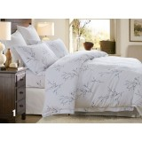 Light colored cotton satin series 4pcs bedding sheet set