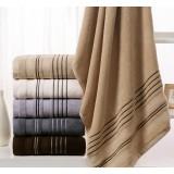 Lines style cotton bath towel