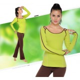 Long-sleeved sports yoga dance clothes suit