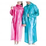 Long section translucent raincoat