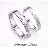 Love forever couples sterling silver ring