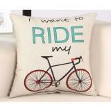 Lovely bike pillow cover