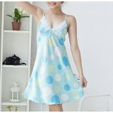 Lovely dot condole belt nightgown