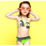 Lovely little girl triangular bikini swimwear
