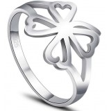 Lucky flower Sterling silver women's ring