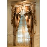 Luxurious embroidered curtains