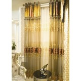 Luxury customize embroidered yarn curtains