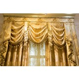 Luxury golden double curtains