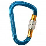 Magnesium alloy D-shaped quickdraw carabiner