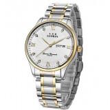 Men's business stainless steel waterproof quartz watch
