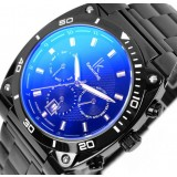 Men's full black multifunctional automatic mechanical watch
