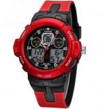 Men's large dial dual movement quartz watch