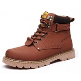 Men's leather snow short boots