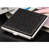 Men's personality patterns steel + leather cigarette case