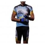 Men's short-sleeved cycling clothing kit