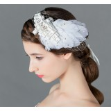 Mesh feathers hair accessories