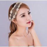 Mesh flower bridal hair accessories