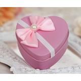 Metal Heart-shaped + bow gift box