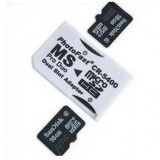 Micro SD Card to MS Card Adapter White