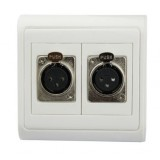 Microphone dual-port panel / Wall Plate White