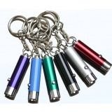 Mini LED flashlight with key chain