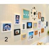 Minimalist clock + photo frame combination