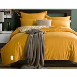 Minimalist double color cotton series 4pcs bedding sheet set
