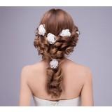 Minimalist flower hair accessories