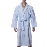 Minimalist lacing-type cotton bathrobe