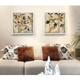 Minimalist plant oil painting