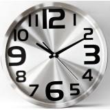 Minimalist stainless steel quartz wall clock