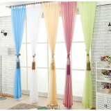 Minimalist translucent gauze curtains