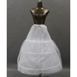 Minimalist white wedding dress pannier