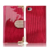 Mobile crocodile pattern leather case for iPhone 4 / 4s