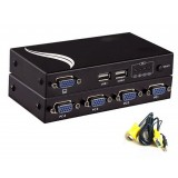 MT-401UK-L 4Port USB2.0 KVM Switch